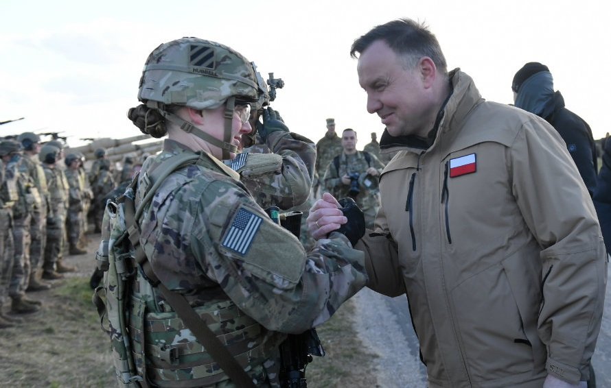 President Andrzej Duda at NATOs 2020 Defender Europe exercises