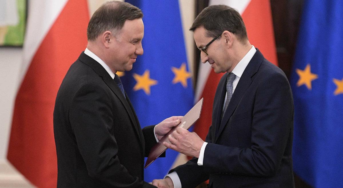 Prezydent Andrzej Duda desygnuje na premiera dotychczasowego szefa rządu Mateusza Morawieckiego
