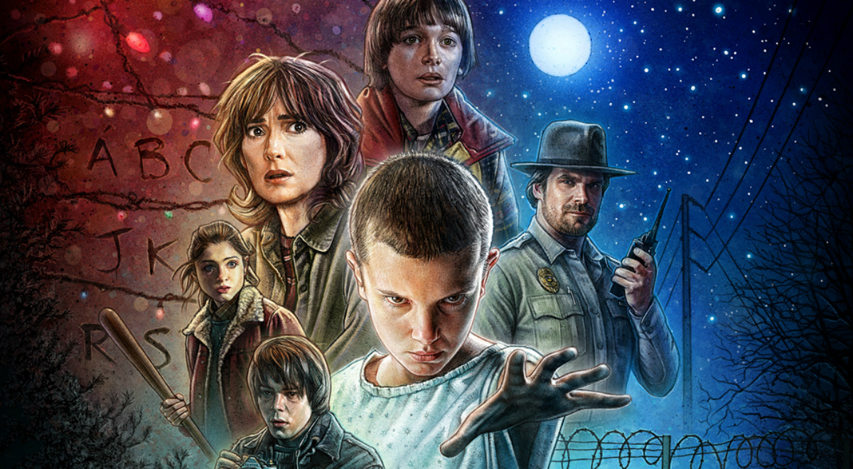 Fragment plakatu promującego serial Stranger Things