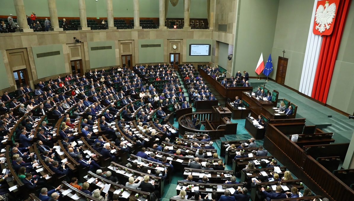 The Polish parliament in session on Friday