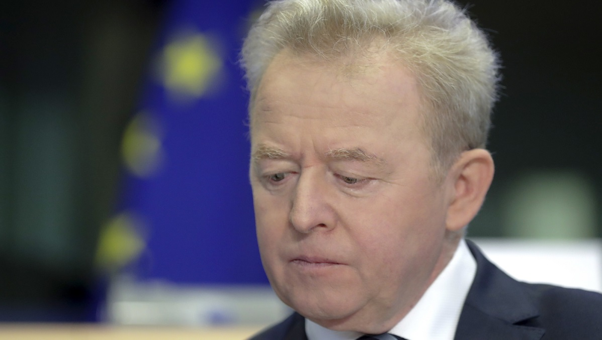 Janusz Wojciechowski during his second hearing before the European Parliament in Brussels