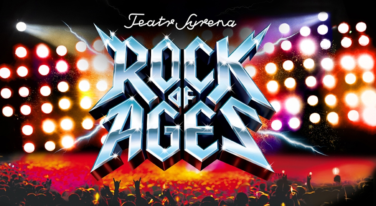 Plakat promujący spektakl Rock of Ages