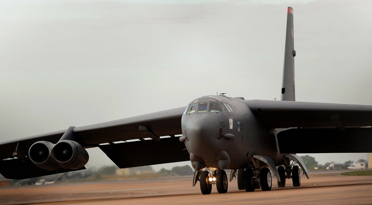 A US Air Force B52 bomber.