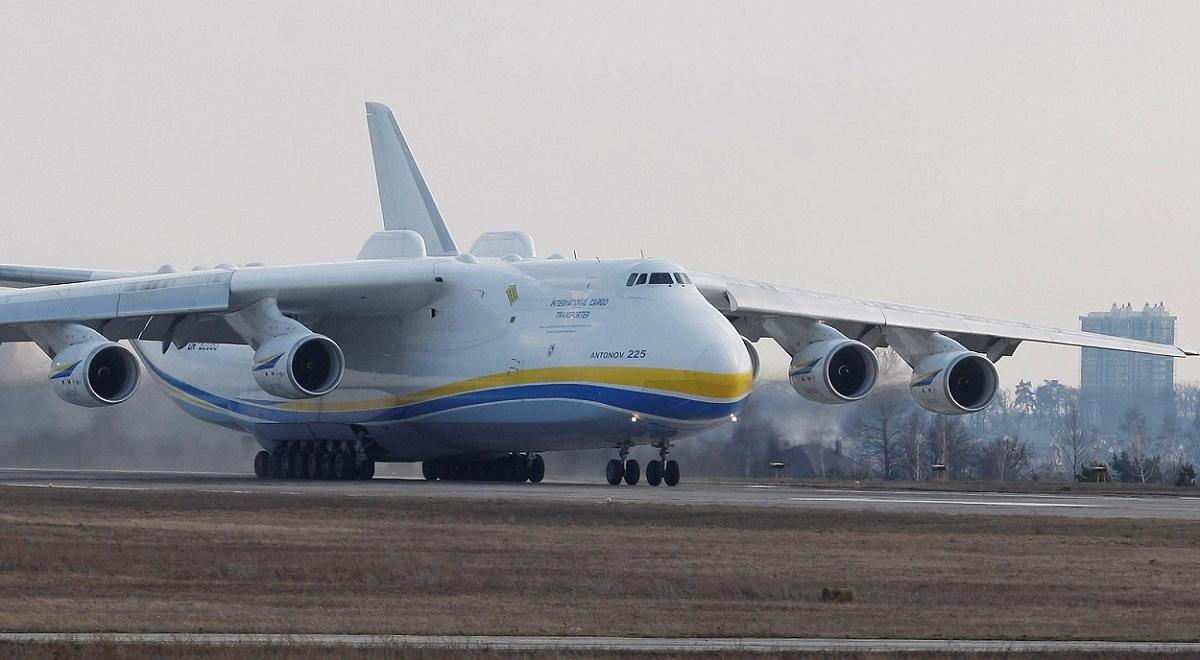 An Antonov An-225 Mriya cargo plane is seen at Hostomel Airport near Kiev, Ukraine, in April 2018.