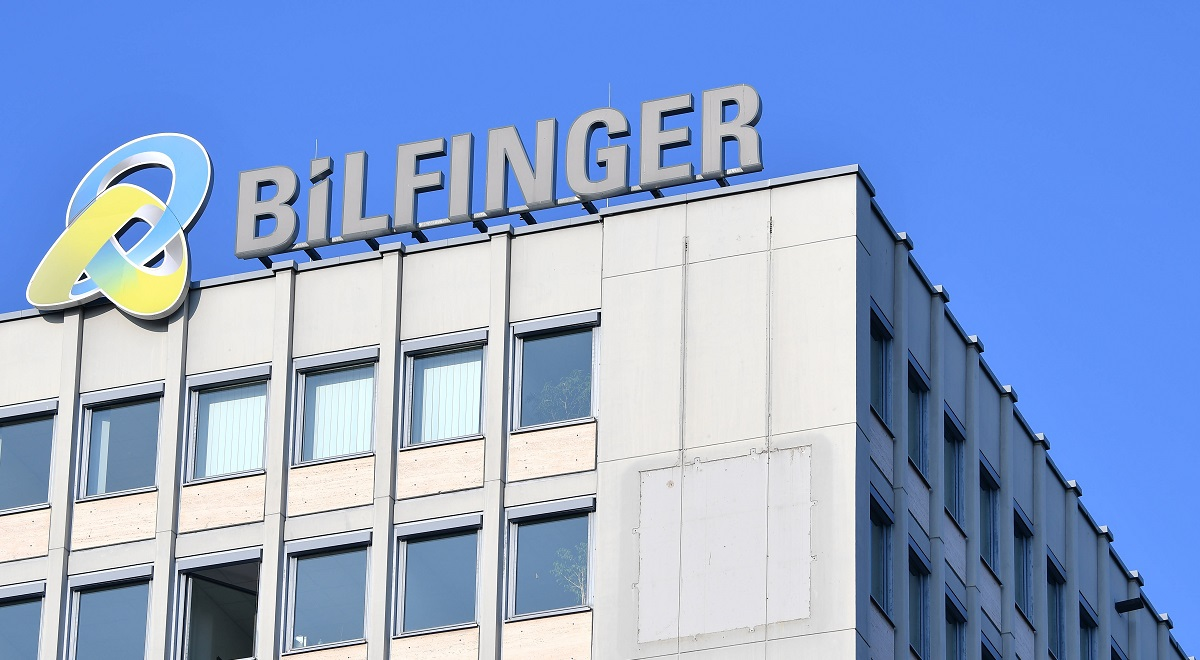 The headquarters of industrial services company Bilfinger in Mannheim, Germany.