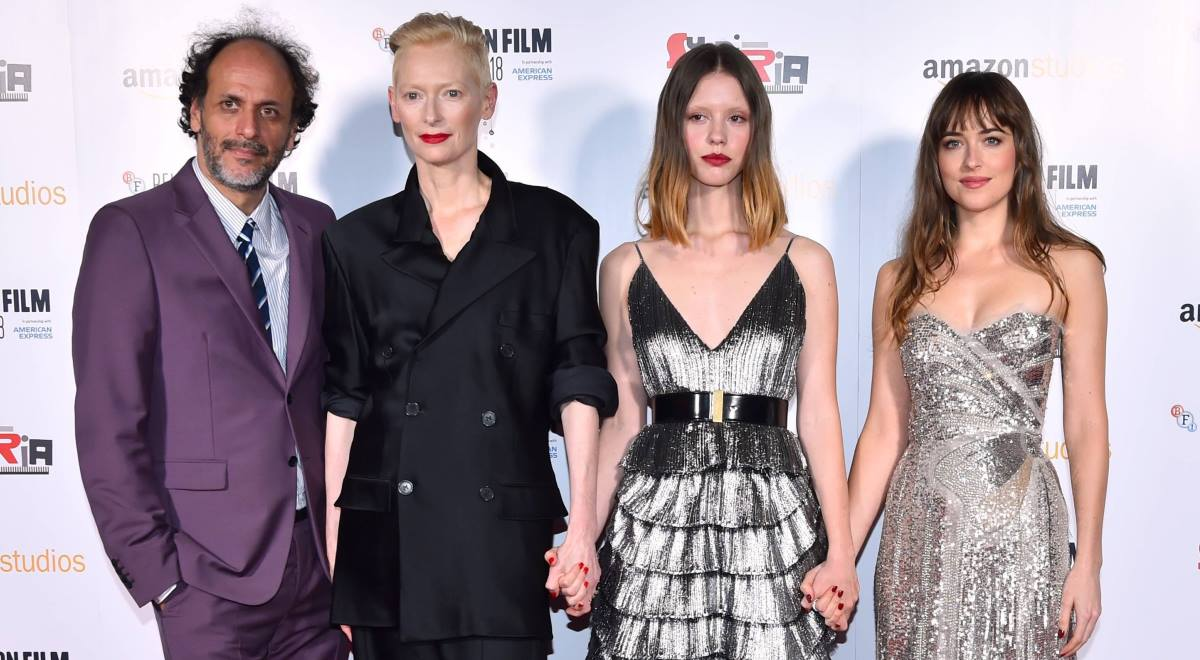 Luca Guadagnino, Tilda Swinton, Mia Goth i Dakota Johnson