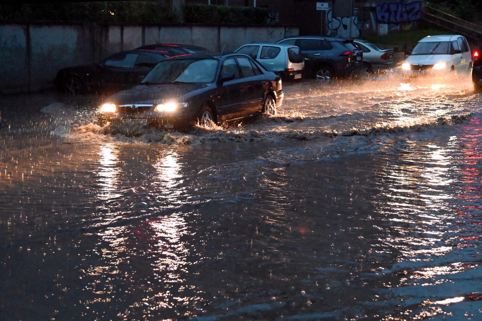 The city of Szczecin saw flash flooding on Friday evening.