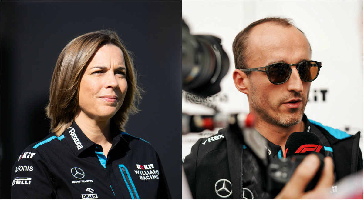 Claire Williams i Robert Kubica