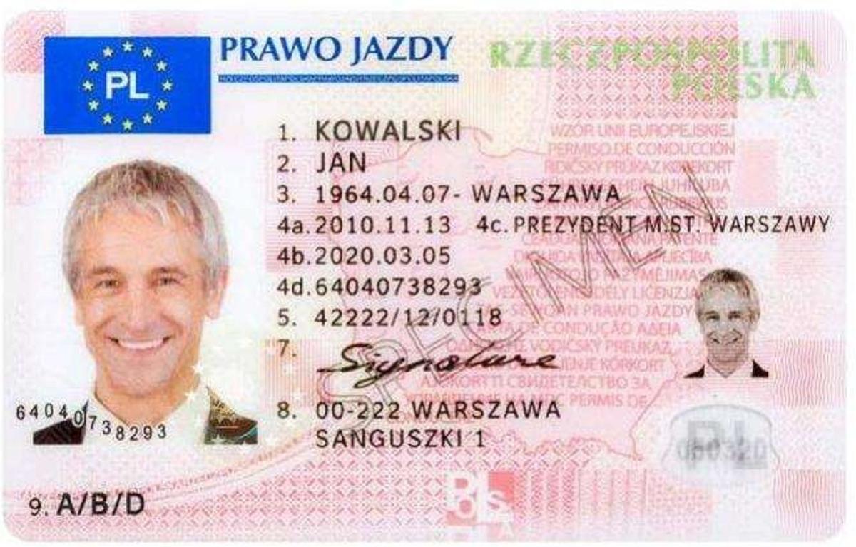С 5 декабря в Польше вводятся цифровые водительские права