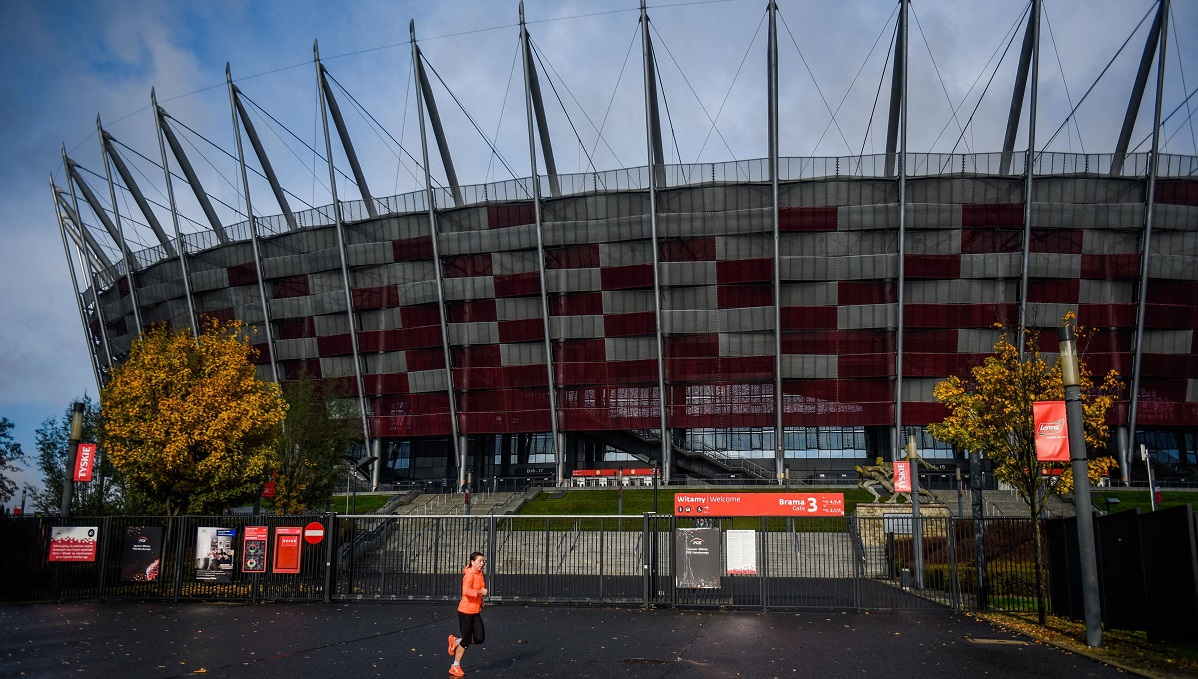 The National Stadium in Warsaw.