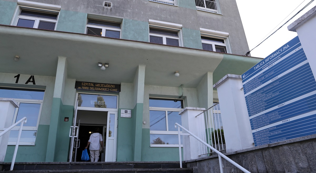 A hospital for coronavirus patients in Zgierz, central Poland.