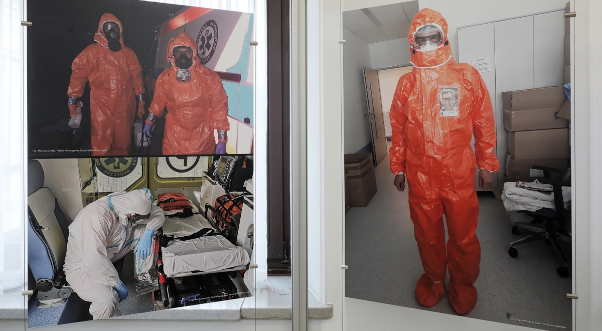 An exhibition in the Polish upper house of parliament pays tribute to healthcare staff fighting the COVID-19 pandemic.