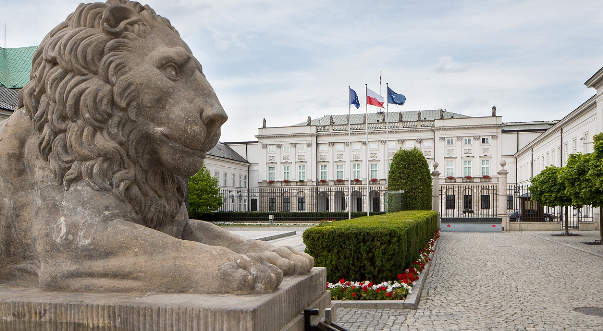 The Presidential Palace in Warsaw.