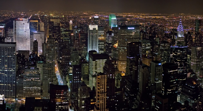 Midtown Manhattan nocą