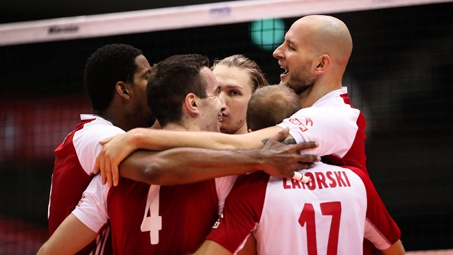 Polish volleyball team at 2019 FIVB World Cup in Japan
