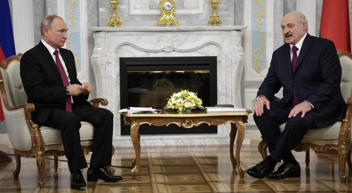 Aleksander Łukaszenka i Władimir Putin na spotkaniu przy okazji obrad Rady Najwyższej Państwa Związkowego Rosji i Białorusi