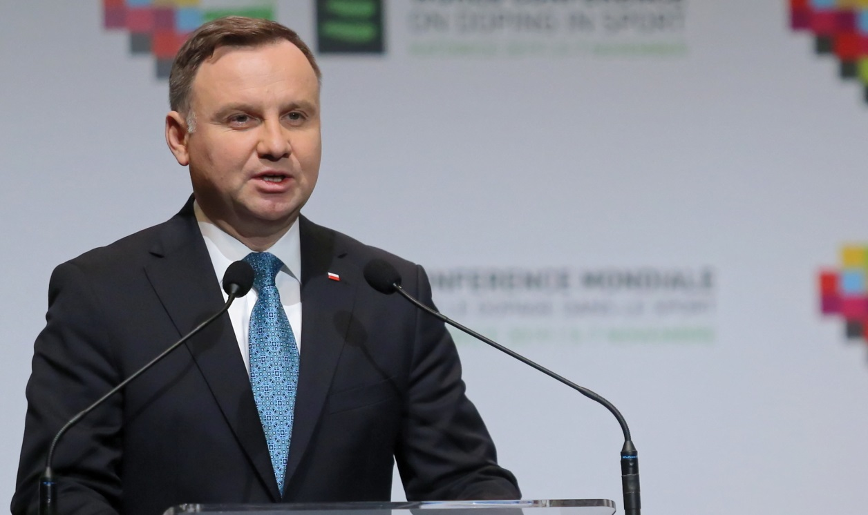 President Andrzej Duda at the opening of the World Anti-Doping Agency conference