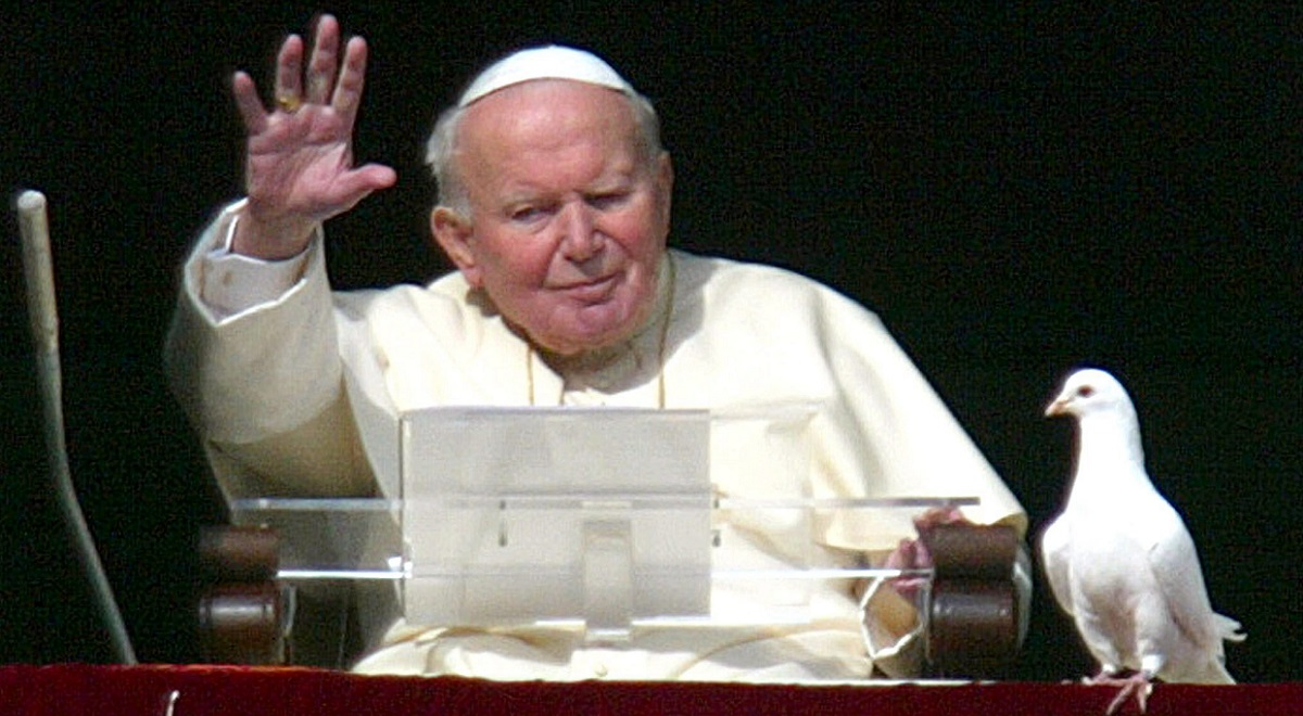 Pope John Paul II, pictured in January 2004.