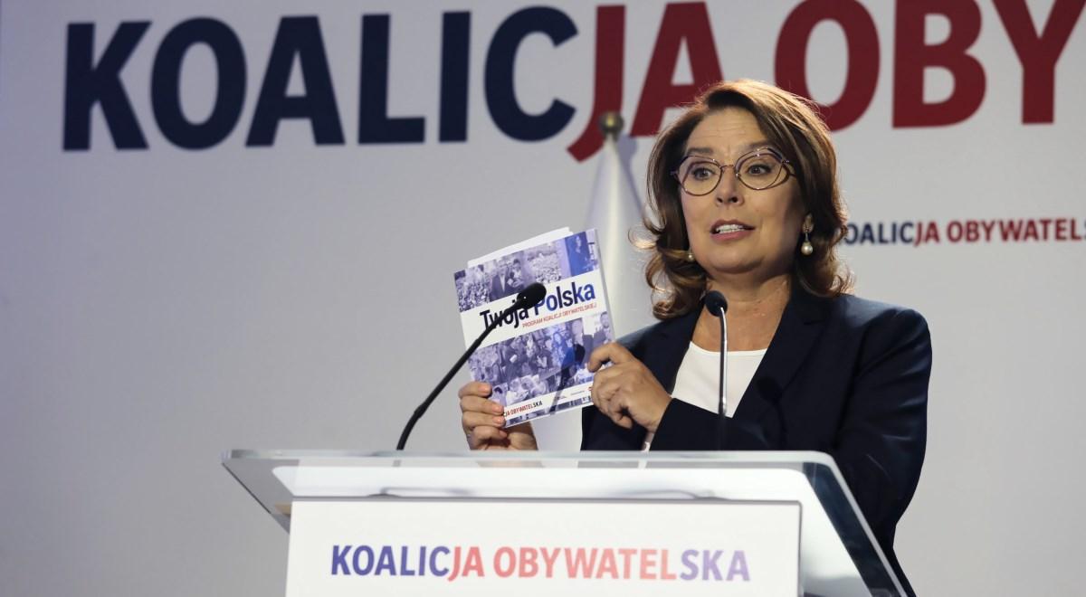 Małgorzata Kidawa-Błońska podczas konwencji programowej Koalicji Obywatelskiej