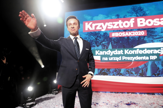 Krzysztof Bosak at Confederation party convention in Warsaw, January 18, 2020.