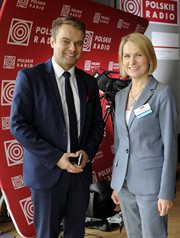 Dr. Barbara Stanisławczyk-Żyła, President of the Board and Editor-In-Chief, Polskie Radio S.A. and   Rafał Bochenek, Government Spokesman