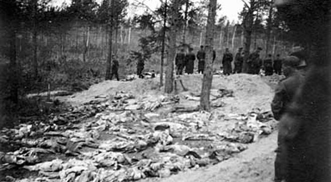 Ekshumacja masowych grobów w Katyniu