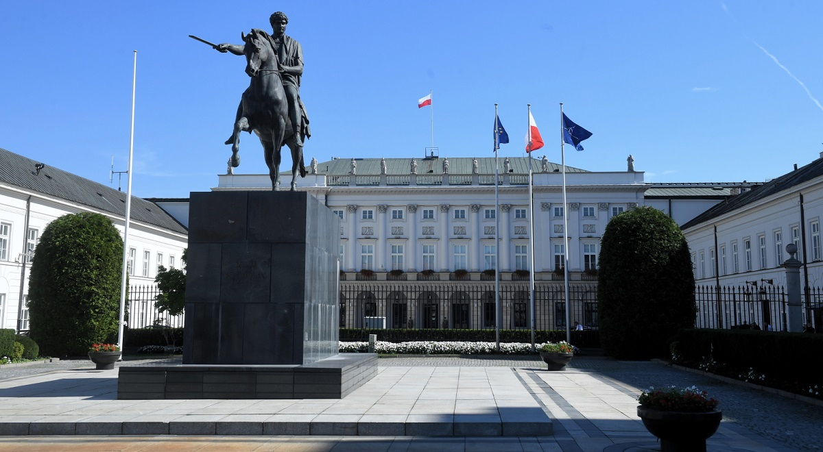 The Polish Presidential Palace in Warsaw.