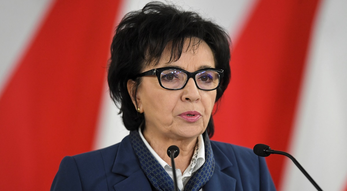 Poland's lower-house Speaker Elżbieta Witek.