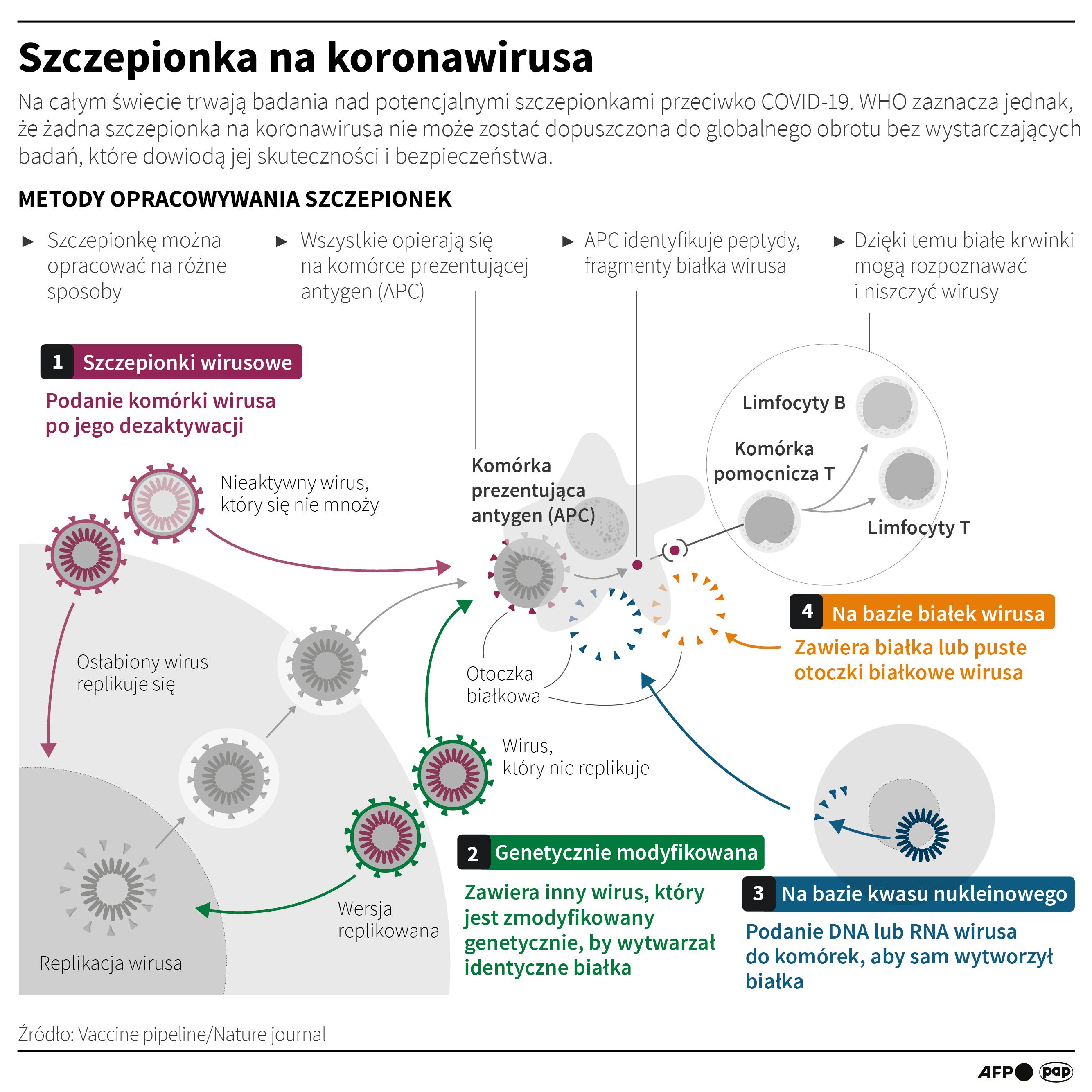 Kiedy powstanie skuteczna szczepionka na koronawirusa? (opr. Maciej Zieliński, Adam Ziemienowicz/PAP)