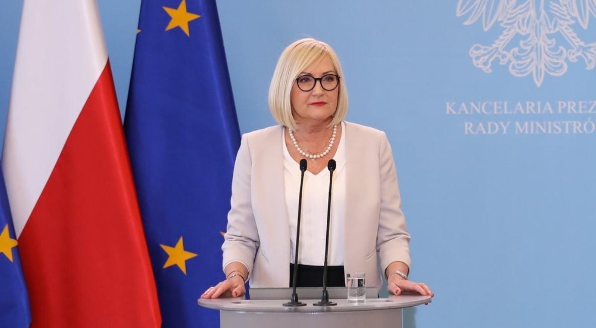 Rzeczniczka rządu Joanna Kopcińska