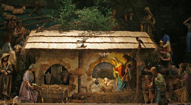 Bożonarodzeniowa szopka w bazylice Franciszkanów.