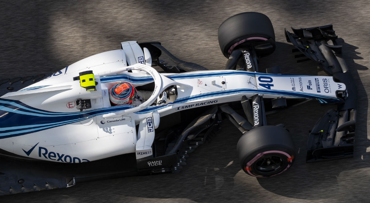 Robert Kubica (Williams Racing) podczas testów przed Grand Prix Abu Zabi.