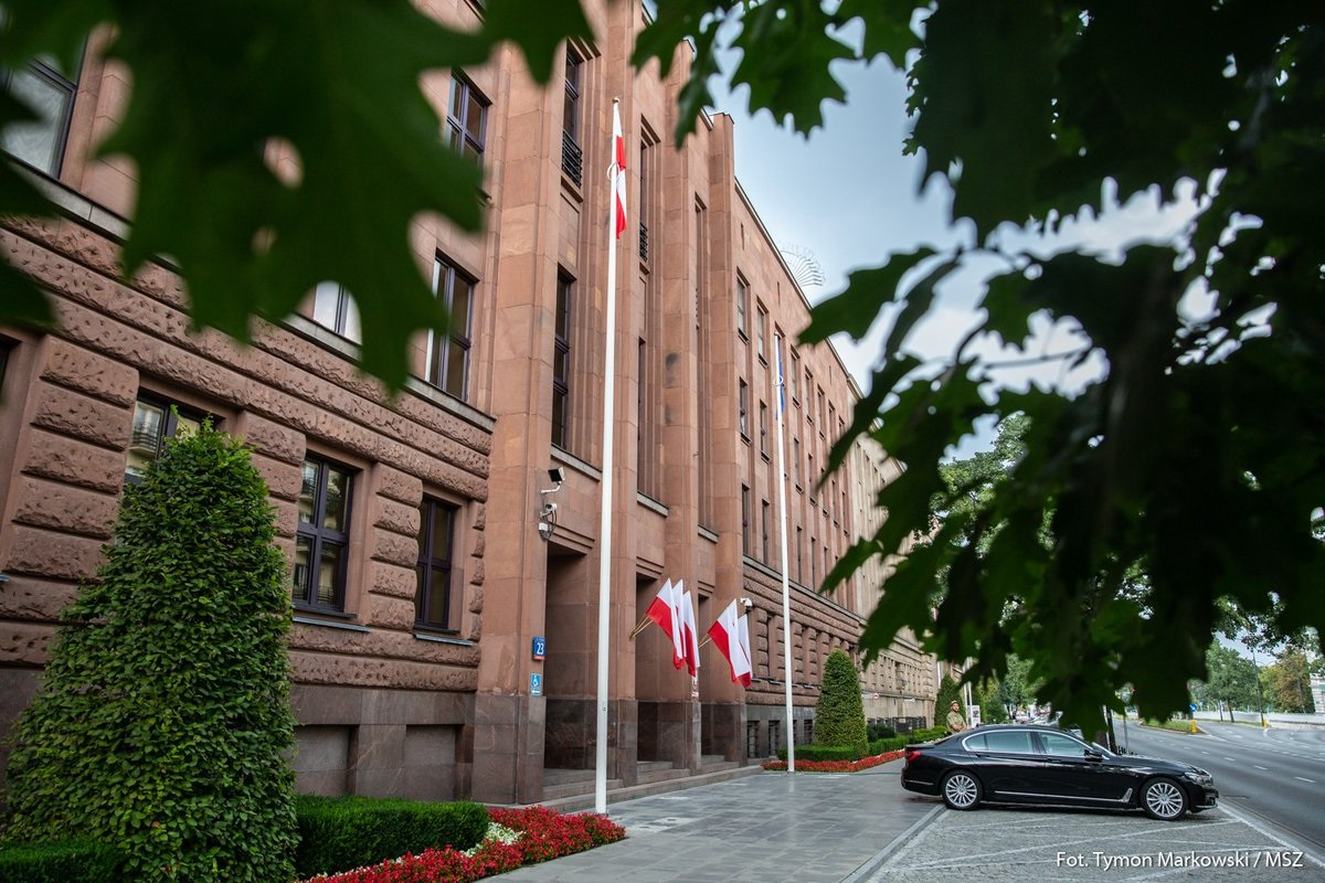 The Polish Ministry of Foreign Affairs building in Warsaw