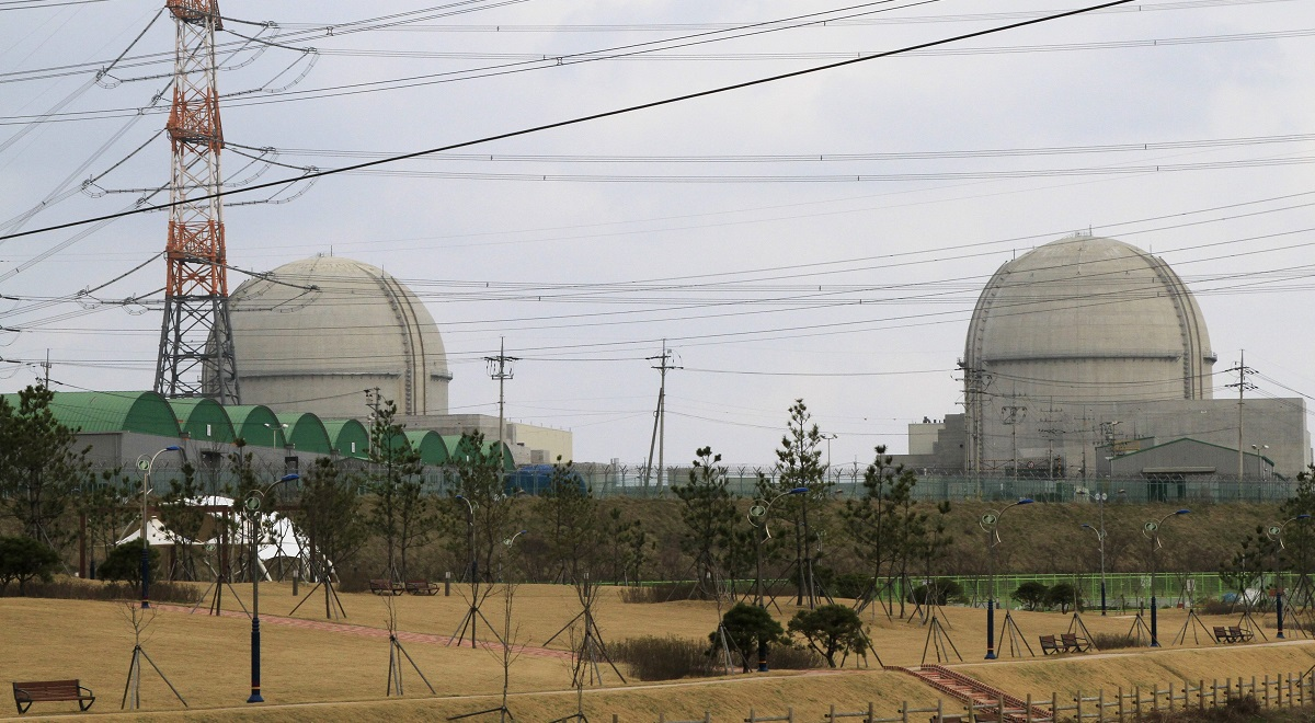 A nuclear power plant operated by the KHNP company in South Korea.