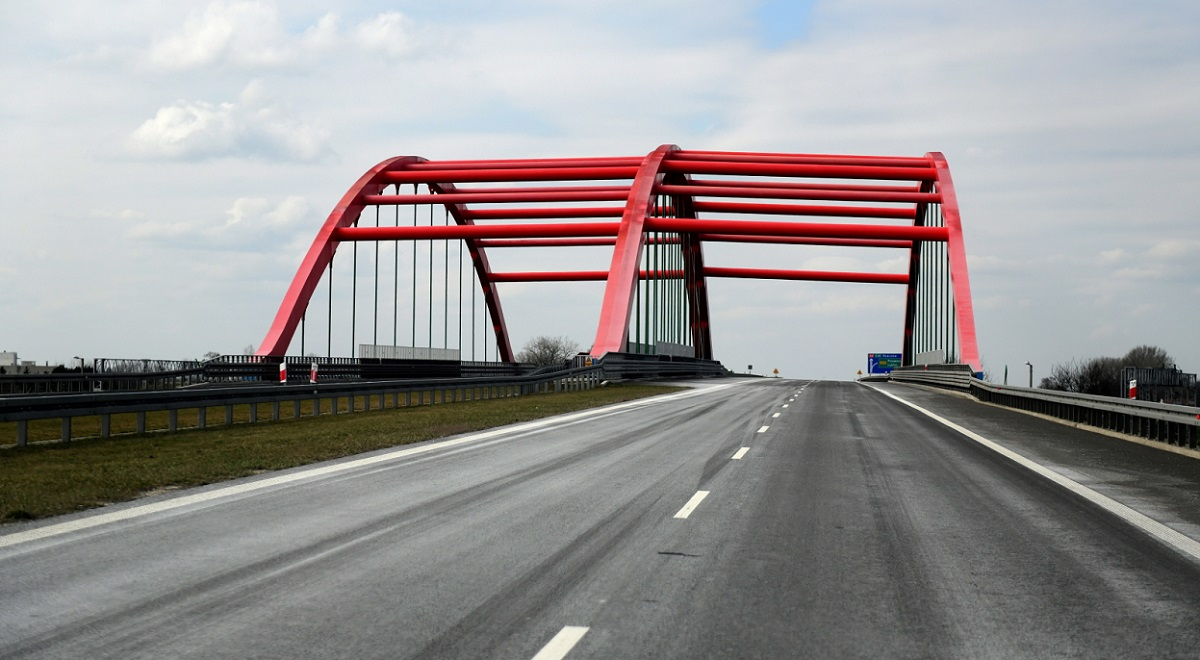 A deserted highway in southern Poland amid a global coronavirus outbreak on Monday.