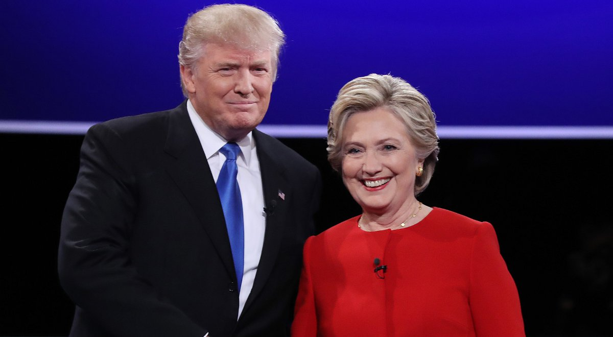 Donald Trump i Hilary Clintonfot.PAPJustin Lane
