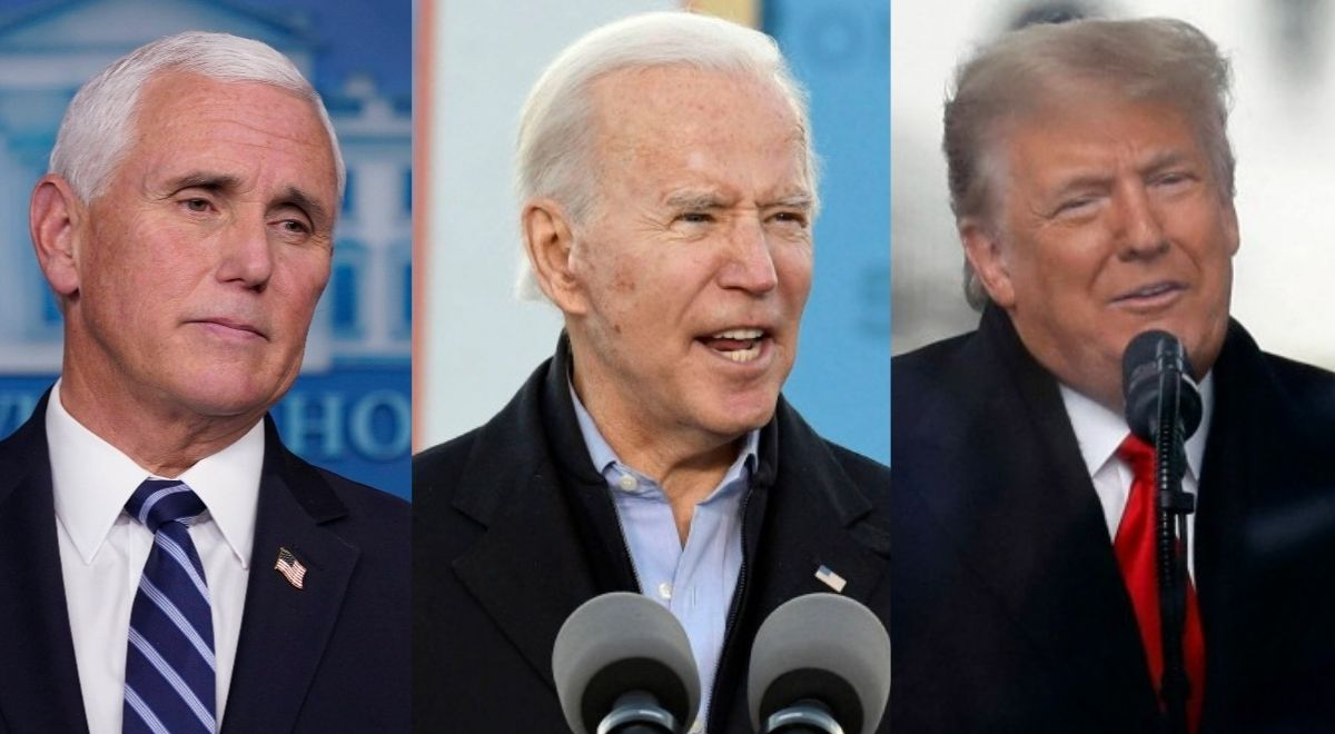 Mike Pence, Joe Biden, Donald Trump