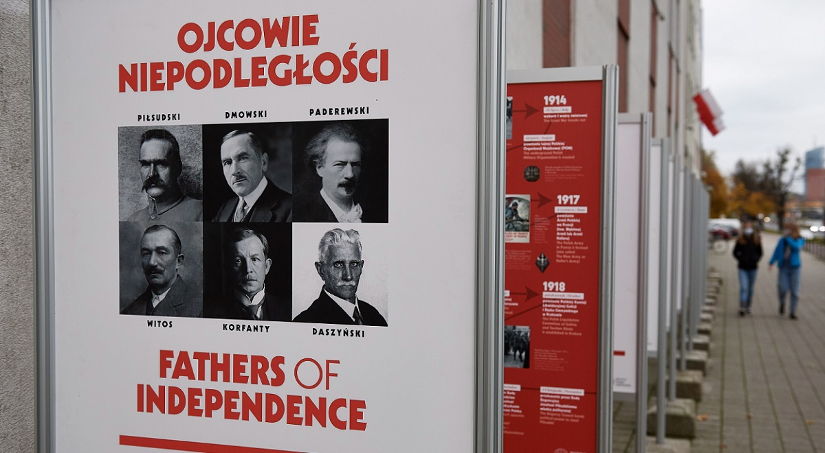 An outdoor exhibition in the northern city of Gdańsk in the run-up to Polands Independence Day. The display pays tribute to the architects of the countrys independence, which it regained on November 11, 1918.