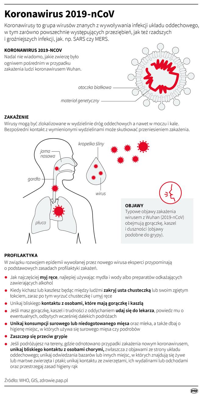 Profilaktyka przed koronawirusem (opr. Adam Ziemienowicz)