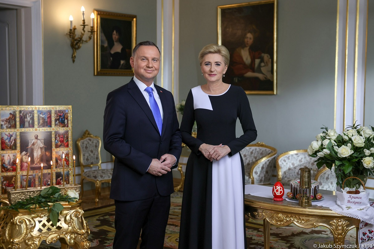 Polands President Andrzej Duda and First Lady Agata Kornhauser-Duda.
