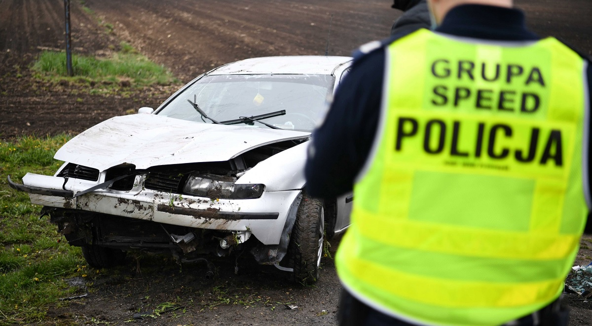 A road accident in Zadąbrowa, southern Poland, on May 2.
