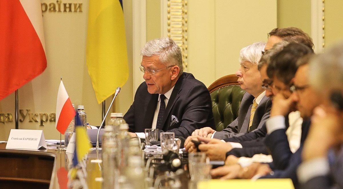 Stanisław Karczewski podczas poprzedniej wizyty na Ukrainie