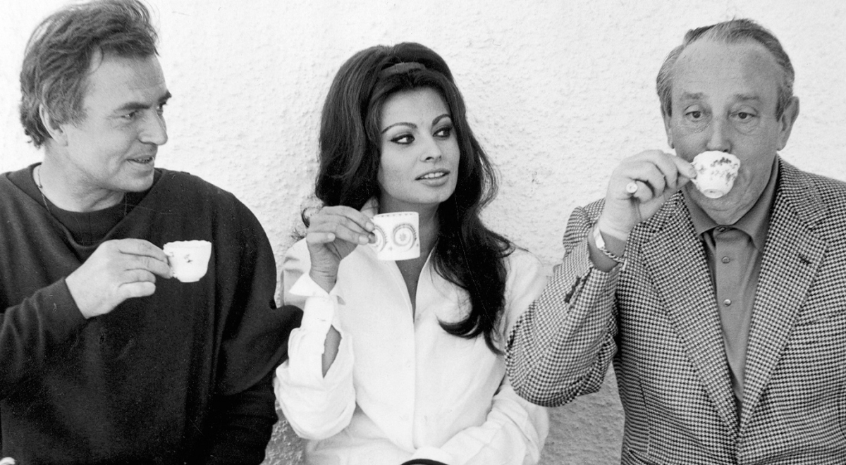 Waszynski with James Mason and Sophia Loren1200.jpg
