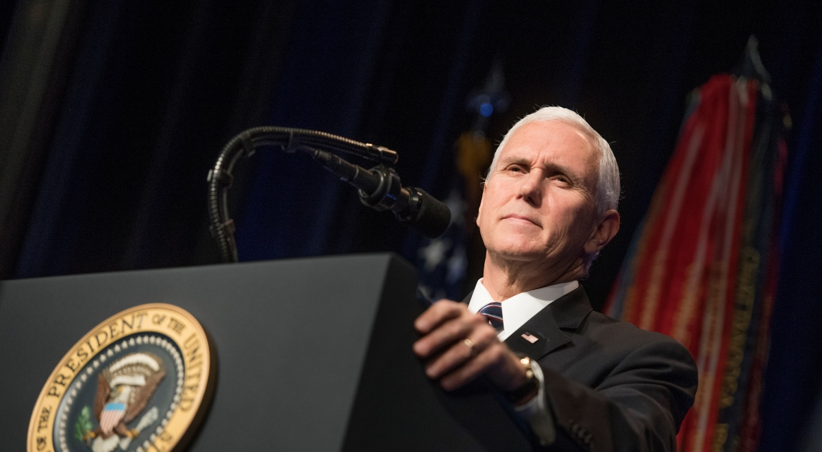 Wiceprezydent USA Mike Pence