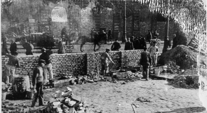 Budowa muru getta warszawskiego, fot. Wikimedia Commonsdomena publiczna