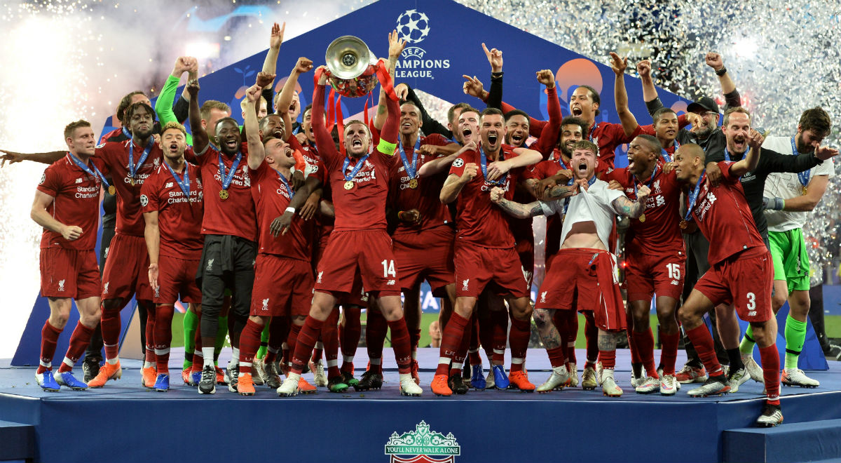 98bce6f09 Piłkarze Liverpoolu po raz szósty w historii zdobyli puchar Ligi Mistrzów