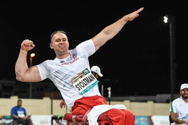 Polands Lech Stoltman at the World Para Athletics Championships in Dubai.