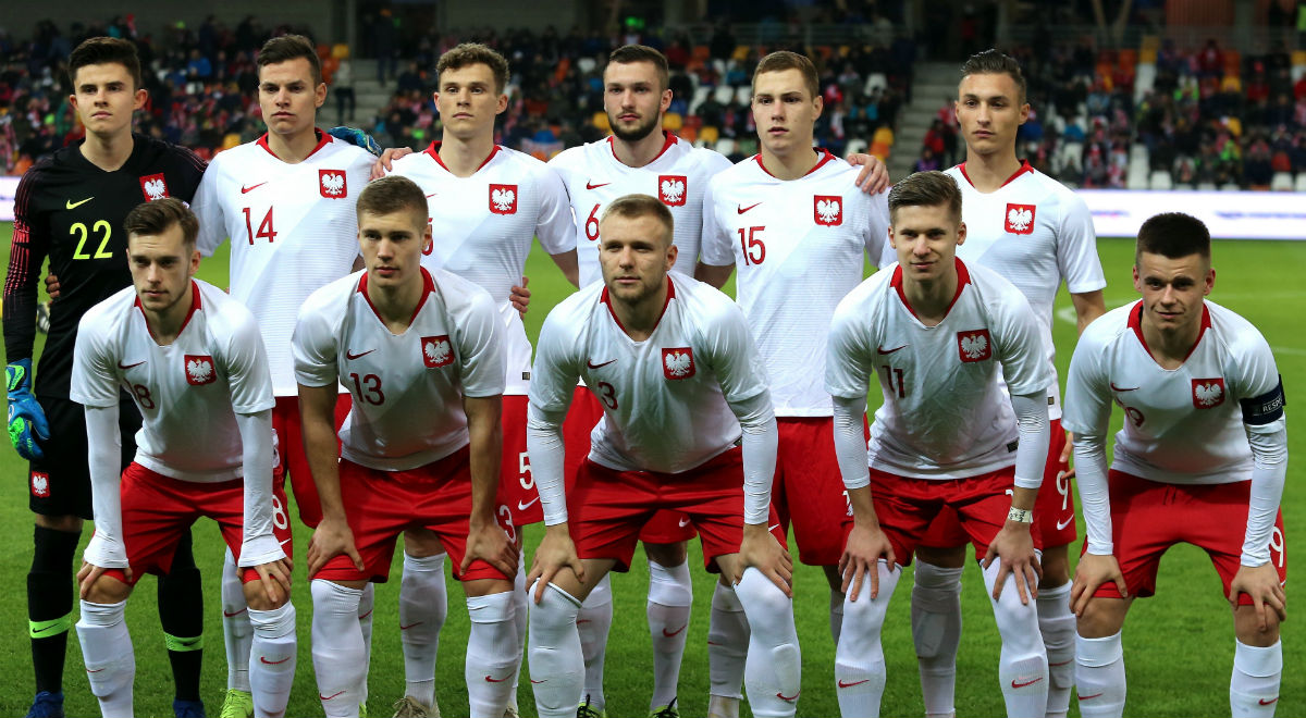 8d436e8e5 Piłkarze reprezentacji Polski do lat 20 przed meczem towarzyskim z drużyną  Niemiec w Bielsku-Białej