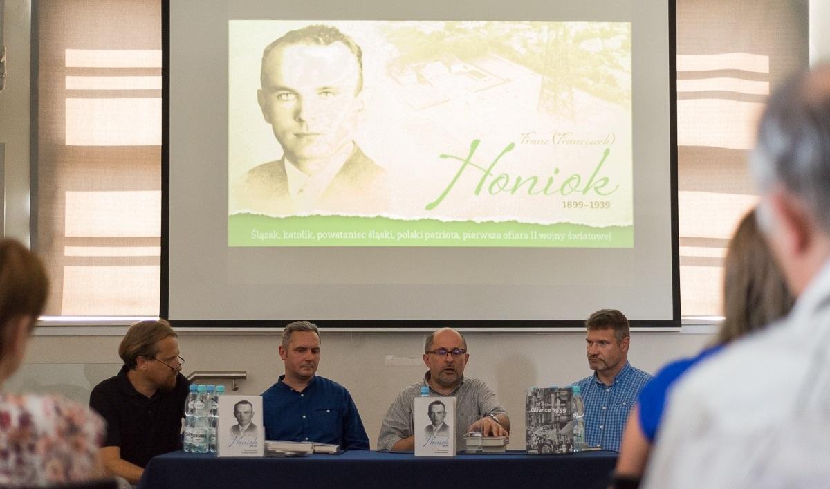 Дискуссионная панель, посвященная Францу Хоньоку. Фото: J. Janowska, www.facebook.com/muzeumwgliwicach