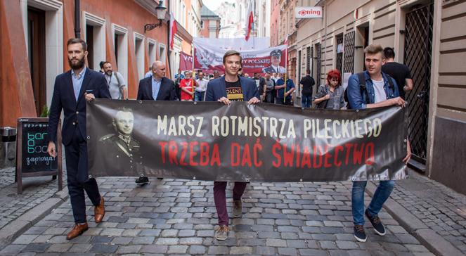 Poznański marsz pamięci Rotmistrza Witolda Pileckiego, zorganizowany przez Stowarzyszenie KoLiber